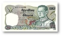 THAILAND - 20 Baht - ND ( 1981 ) - Pick 88 - UNC. - Sign. 60 - Serie 9 C - King Rama IX - 2 Scans - Tailandia