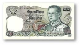 THAILAND - 20 Baht - ND ( 1981 ) - Pick 88 - Sign. 72 - Serie 2 J - King Rama IX - 2 Scans - Tailandia