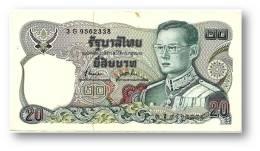 THAILAND - 20 Baht - ND ( 1981 ) - Pick 88 - Sign. 72 - Serie 3 G- King Rama IX - 2 Scans - Thaïlande