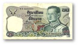 THAILAND - 20 Baht - ND ( 1981 ) - Pick 88 - Sign. 72 - Serie 9 G - King Rama IX - 2 Scans - Thailand