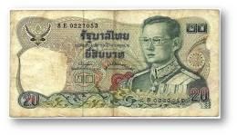 THAILAND - 20 Baht - ND ( 1981 ) - Pick 88 - Sign. 73 - Serie 8 E - King Rama IX - 2 Scans - Thailand