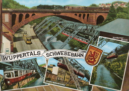 WUPPERTAL Schwebebahn  - ältere 4-Bild-Karte