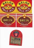 Lot De 19 étiquettes - Bières (Brasserie Du Lion Tournai - Stador - Brasserie Bataille Moustier Lez Frasnes) - Bier