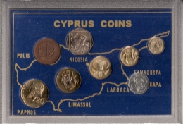CHYPRE      COMPLETE   SET   8 PIECES      1980 - 83 - 98 - 2001 - 02 - 03 - Munten
