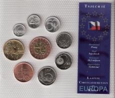 TCHEQUIE      BLISTER      9 PIECES      1993 - 94 - 98 - 2001 - 02      UNC - Tchéquie