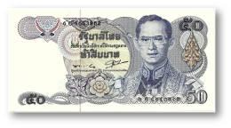 THAILAND - 50 Baht - ND ( 1985-96 ) - Pick 90.b - UNC - Sign. 56 - Serie 6 C - King Rama IX - 2 Scans - Thailand