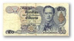 THAILAND - 50 Baht - ND ( 1985-96 ) - Pick 90.b - Sign. 58 - Serie 2 G - King Rama IX - 2 Scans - Thailand