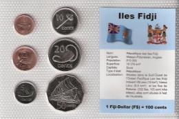 FIDJI      BLISTER   6 PIECES   1992 - 95 - 96 - 97 - 98 - 99      UNC - Fidji