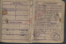 CARTE D ALIMENTATION MAIRIE DE COURBEVOIE FAMILLE ERVE JACQUES - Cartes