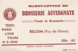 - 63 - BUVARD PUBLICITAIRE  BROSSERIE AUVERGNATE à BILLOM   - 004 - B
