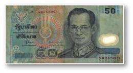 THAILAND - 50 Baht - ND ( 1997 ) - Pick 102 - Sign. 71 - Polymer Plastic - Serie 0 D - King Rama IX - 2 Scans - Thaïlande