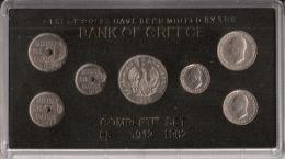 GRECE      COMPLETE   SET      7 PIECES      1912 - 1962 - Munten