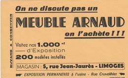 - 87 -  BUVARD PUBLICITAIRE Meuble ARNAUD à LIMOGES  - 009 - M