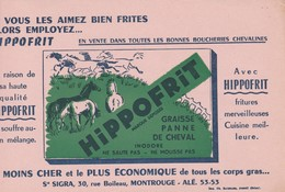 - 92 -  BUVARD PUBLICITAIRE   Graisse Sté SIGRA à MONTROUGE - 016 - Buvards, Protège-cahiers Illustrés