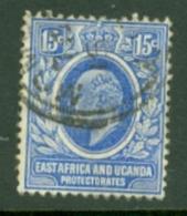 East Africa & Uganda Protectorates: 1907/08   Edward    SG39   15c     Used - Protectorados De África Oriental Y Uganda