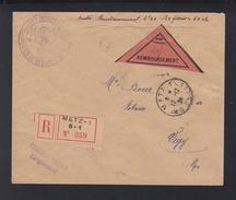 Lettre Remboursement Franchise Enregistrement 1924 - Poststempel (Briefe)