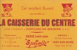 - 41 -  BUVARD PUBLICITAIRE  LA CAISSERIE DU CENTRE à FONTAINE-EN-SOLOGNE - 018 - Blotters