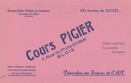 - 41 -  BUVARD PUBLICITAIRE COURS PIGIER à BLOIS - 019 - Blotters