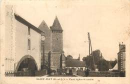 Dep - 28 - SAINT PIAT Pont Eglise Et Mairie - France