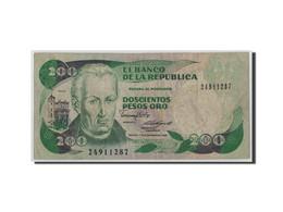 Colombie, 200 Pesos Oro, 1988, KM:429d, 1988-11-01, B - Colombie