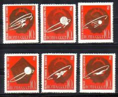 RUSSIA  RUSSIE - 1963 - Conquete Du Cosmos - 6v** - 1923-1991 USSR