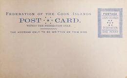 Cook Islands 1892 Unused Domestic Use Postcard. Postal Stationery - Cook