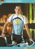 5296 CP Cyclisme Andreas Kloden  Dédicacée - Cyclisme