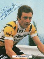 5316  CP Cyclisme  Bernard Becaas  Dédicacée - Cyclisme