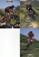 5385 CP  Cyclisme   3  Cartes Team Spécialized  1998 - Cyclisme