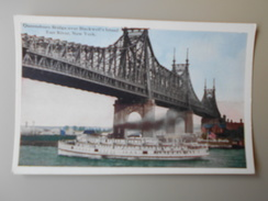 ETATS-UNIS NY NEW YORK CITY QUEENSBORO BRIDGE OVER BLACKWELL'S ISLAND EAST RIVER - Queens