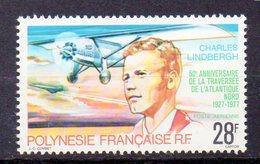 POLYNESIE Timbre Neuf * De 1977  ( Ref 4529 ) Avion - Lindbergh - Airmail