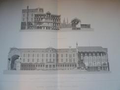 PLANS HÔPITAL STE EUGENIE à LILLE Par Auguste MOURCOU 1876 - Architecture