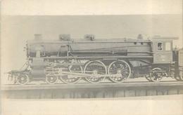 LOCOMOTIVE N° 3591 PO,carte Photo Collection Jean Bornet. - Trains
