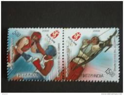 India Inde Indien 2008 Beijing Jeux Olympique Olympics Tir à L´arc Boogschieten Archery Boxe Boxing MNH ***