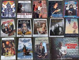 Lot De 19 Anciennes Affiche De Cinéma 115 X 155 Cm - Les Années 1980 / 90 - Unclassified