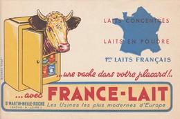 71 - BUVARD PUBLICITAIRE  FRANCE-LAIT à Saint-MARTIN-BELLE-ROCHE - 027 - Zwieback