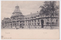 Tournai  Cpa  La Gare - Doornik