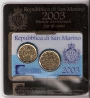 SAN MARINO      MINI SET      2 PIECES      2003 - San Marino