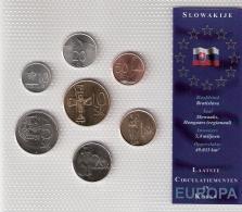 SLOVAQUIE      BLISTER      7 PIECES      1995 - 2001 - 02 - 03      UNC - Monnaies
