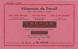69 - BUVARD PUBLICITAIRE  Vêtement CREPIER à Saint-GEORGES-de-RENEINS - 028 - V