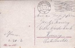 1-V-1919 Ansichtkaart Van Groningen Naar Paterswolde Met MILITAIR Portvrijdom - Militaria