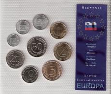 SLOVENIE      BLISTER      9 PIECES      1992 - 93 - 2000 - 01 - 02 - 03      UNC - Monnaies