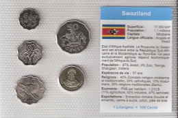SWAZILAND      BLISTER      5 PIECES      1996 - 98      UNC - Swaziland
