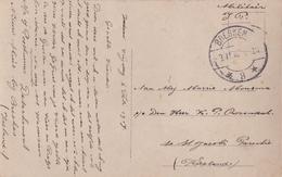 3-II-1917 Ansichtkaart Van Breskens Naar St. Jacobi Parochie Fr.  Met MILITAIR Portvrijdom - Militaria