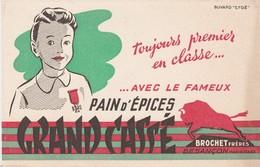 25 - BUVARD PUBLICITAIRE  Pain D'épices GRAND CASSE BROCHET Frères à BESANCON  - 029 - P