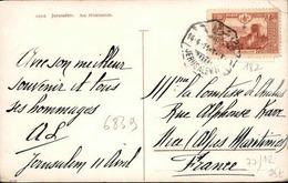 TURQUIE - Oblitération De Jérusalem En 1914 Sur Carte Postale Pour La France - A Voir - L 6138 - Brieven En Documenten
