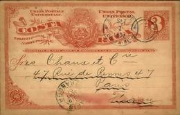COSTA RICA - Entier Postal De San José En 1901 Pour La France - A Voir - L 6143 - Costa Rica