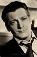 Cp Schauspieler Carlos Thompson, Portrait Im Anzug, Das Wirtshaus Im Spessart - Schauspieler