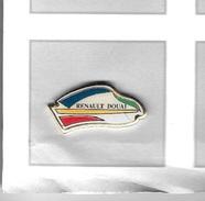 Pin´s  Automobile  RENAULT  DOUAI  Bleu, Vert, Jaune, Rouge - Renault