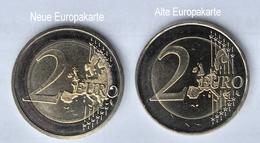 Fehlprägung Alte Europakarte, 2 Euro, 2008, Hamburger Michel (F), !!!Selten!!!  Bankfrisch Aus Der Rolle - Germany